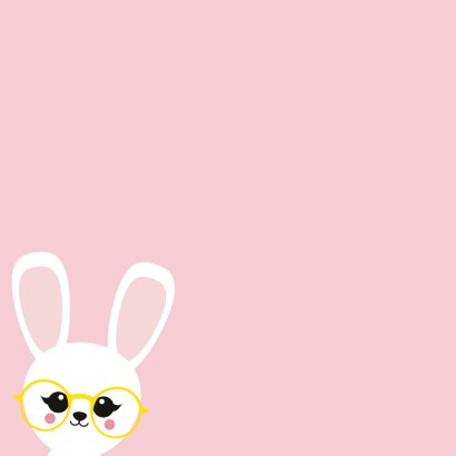 Beterschapskaart konijn met bril 2