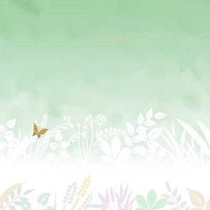 Beterschapskaart natuurlijke omgeving met hart en vlinders 2