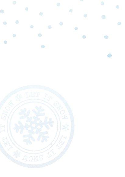 Blauwe zakelijke kerstkaart 2018 2