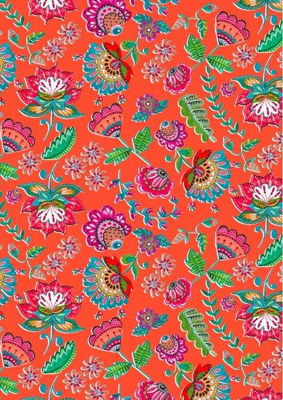 Bohemian Trouwkaart bloemen 2