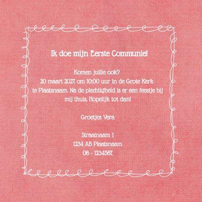Communie label bloem - DH 3