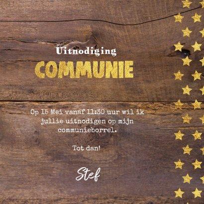 Communie stoere fotokaart hout en sterren 3