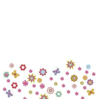 communie uitnodiging bloemen 2