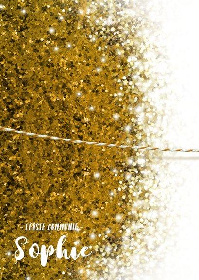 Communie vormsel goud glitter lentefeest eigen foto 2