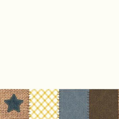Communiekaart jongen patchwork 2