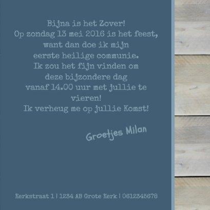 Communiekaart steigerhout blauw 3