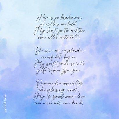 Condoleance grote waterverf V met gedicht over vader  2