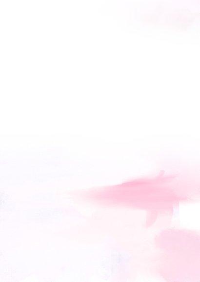 Condoleancekaart lief kind roze 2