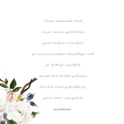 Dankbetuiging met prachtige olieverf bloemen 2