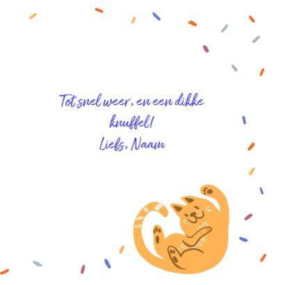 Dierenkaart feestelijke katten 3