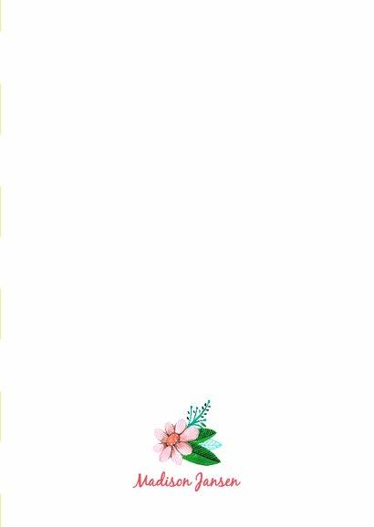 Eerste Communie Bloemen Strepen 3