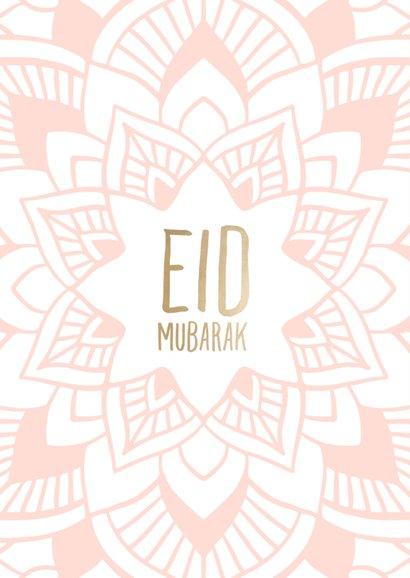 Eid Mubarak kaart met getekende mandala 2