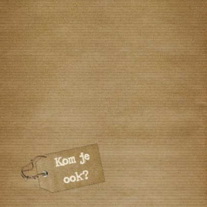 Feest hout en naamkaartje c 2