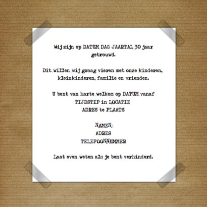 Feest hout en naamkaartje c 3