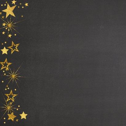 Feestelijke kerst fotokaart gouden sterren 2