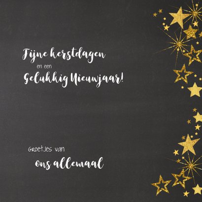 Feestelijke kerst fotokaart gouden sterren 3
