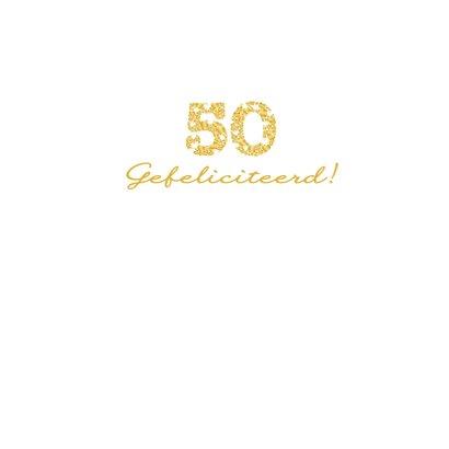 Felicitatie 50 hartjes sierlijk 3
