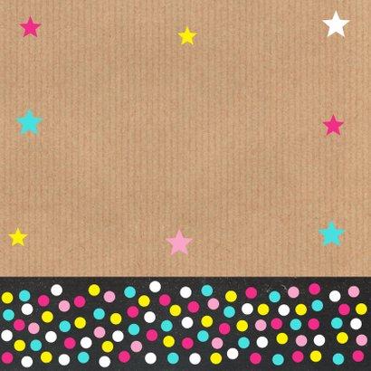 Felicitatie baan foto sterren confetti 2