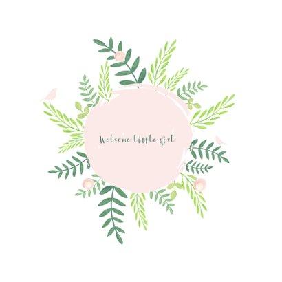 Felicitatie - Cirkel met botanische illustraties 2