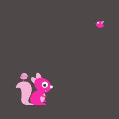Felicitatie eekhoorn roze 2