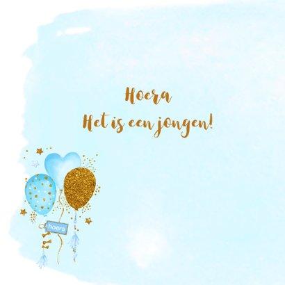 Felicitatie geboorte jongen ballonnen 2