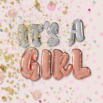 Felicitatie geboorte meisje - folie ballon 2