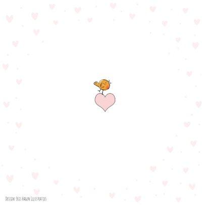 Felicitatie geboorte meisje met vosje en beer 2