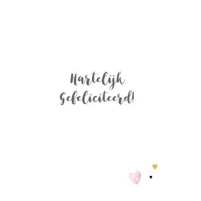 Felicitatie geboorte veren papier 3