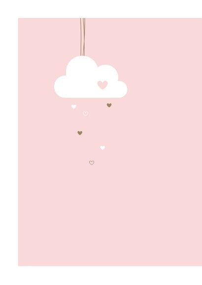 Felicitatie geboorte - Wolkje met hartjes 2