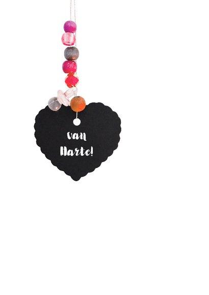 Felicitatie geboortekaartje hart roze dochter 2