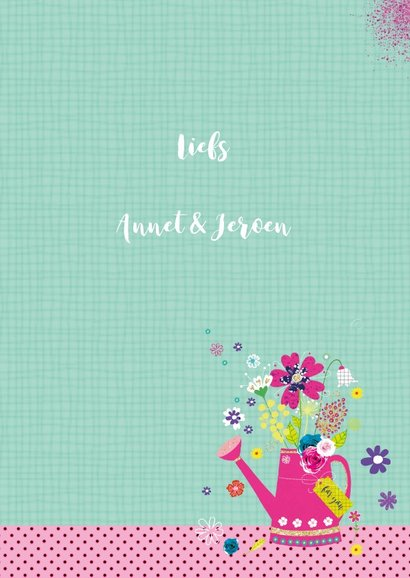 Felicitatie gieter bloemen 3