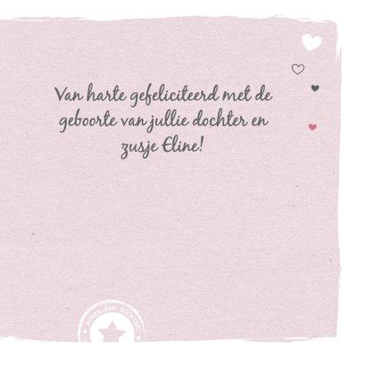 Felicitatie - Hart, label meisje 3