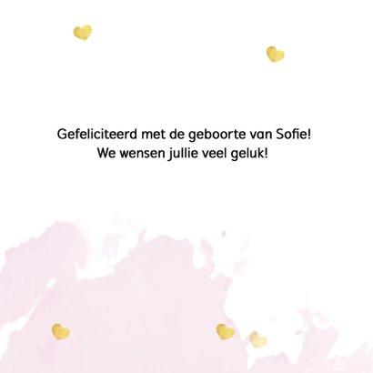 Felicitatie - hello little one roze 3