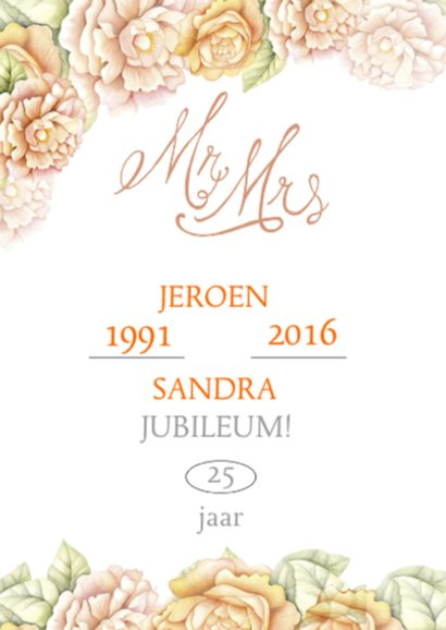 Felicitatie jubileum rozen tekst 2
