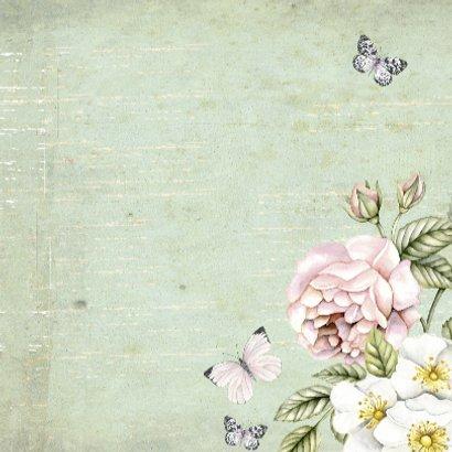 felicitatie jubileum vintage bloemen 3