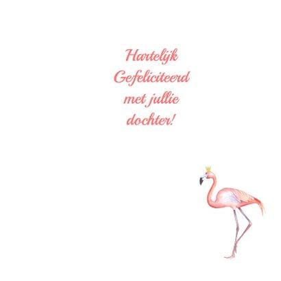 Felicitatie meisje flamingo foto 3