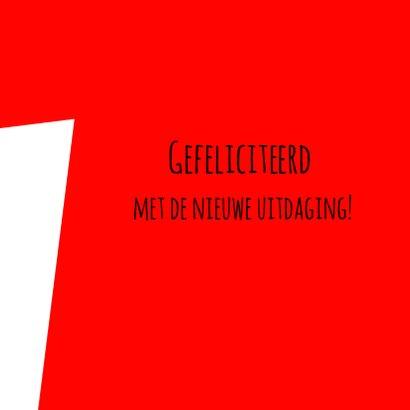 Felicitatie nieuwe richting 3