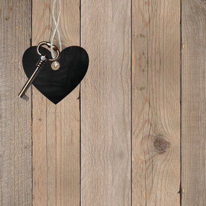 Felicitatie nieuwe woning hout 2