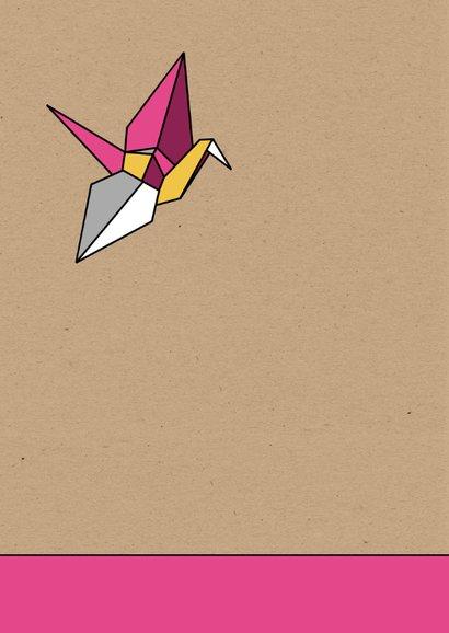 Felicitatie origami vogel meisje 2
