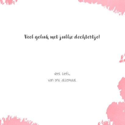 Felicitatie roze kaartje met een illustratie van een zebra 3