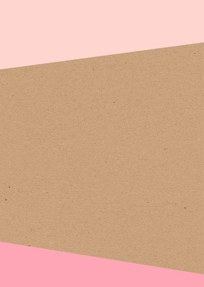 Felicitatie - Tangram flamingo voor een meisje 2