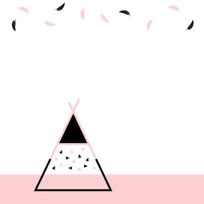 Felicitatie - Tipi met veertjes en driehoekjes 2