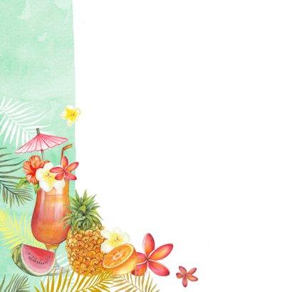Felicitatie tropische cocktail 2