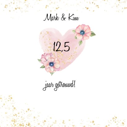 Felicitatie trouwdag hart bloeme 2