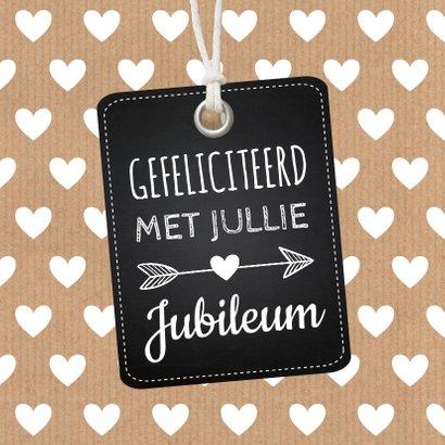 Felicitatie trouwdag label hartjes kraft 2