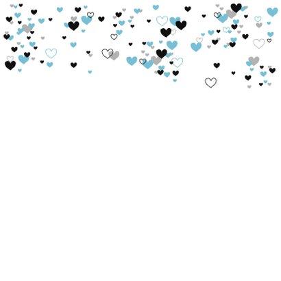 Felicitatie -Veel blauwe hartjes 2