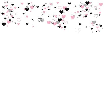 Felicitatie - Veel roze hartjes 2