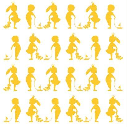 Felicitatie zwanger silhouet geel - MW 2