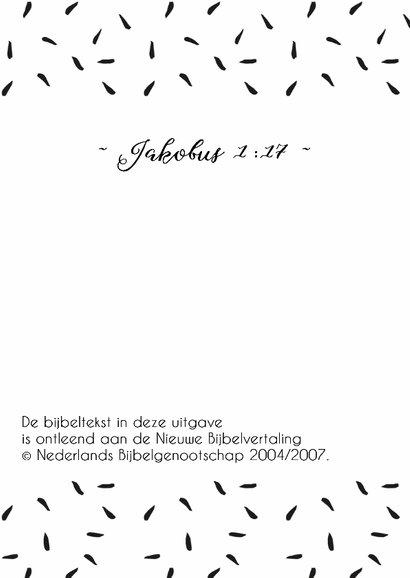 Felicitatie zwangerschap bijbeltekst Jakobus - WW 2