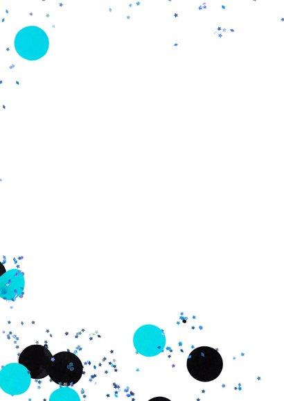 felicitatiekaart 1 jaar confetti blue 2
